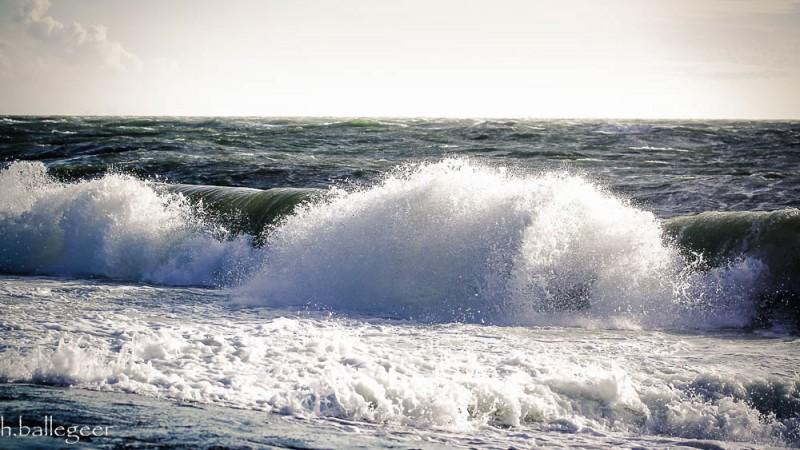 Wellen an der Nordsee