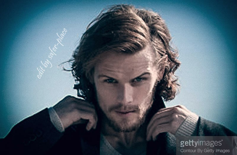 Sam Heughan blue
